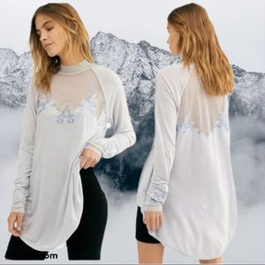 NWT FREE PEOPLE Saheli Glacier Ice LS Tunic XS